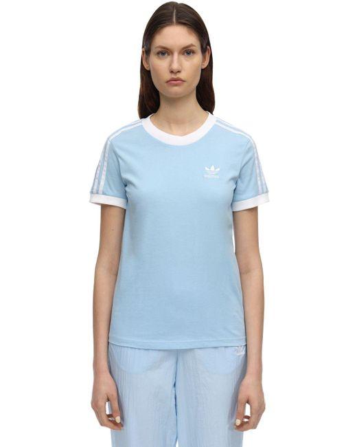 Adidas Originals コットンtシャツ Blue