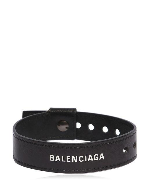 Balenciaga Armband Aus Leder Mit Logo in Black für Herren