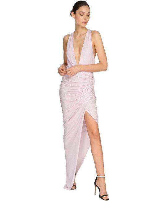 Alexandre Vauthier ジャージーロングドレス Pink