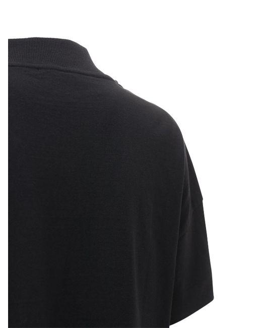 """1017 ALYX 9SM Black T-shirt Aus Jersey """"mocktie"""""""