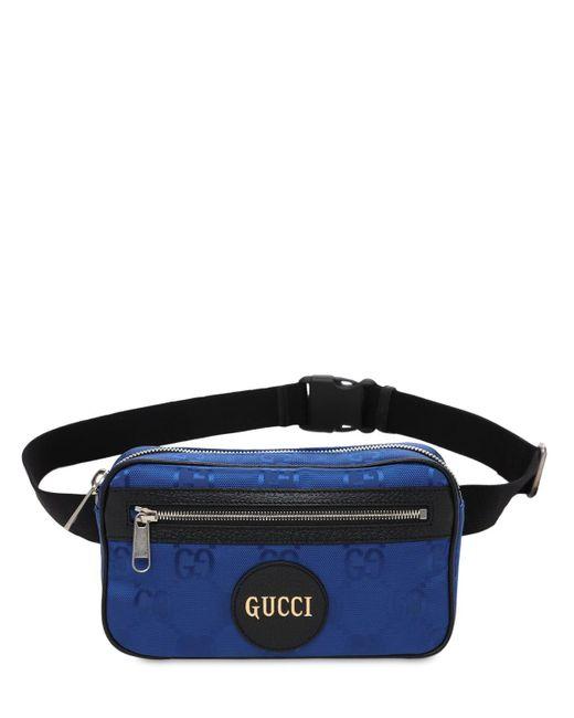 メンズ Gucci Off The Grid エコナイロンベルトバッグ Blue