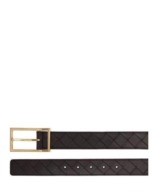 メンズ Bottega Veneta Intrecciato レザーベルト 3cm Black