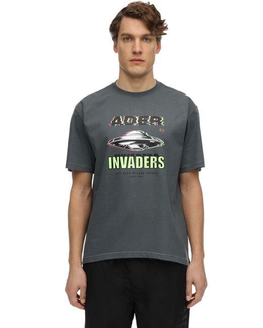 メンズ ADER ERROR コットンジャージーtシャツ Gray