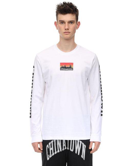 メンズ Chinatown Market Smu ロングtシャツ White