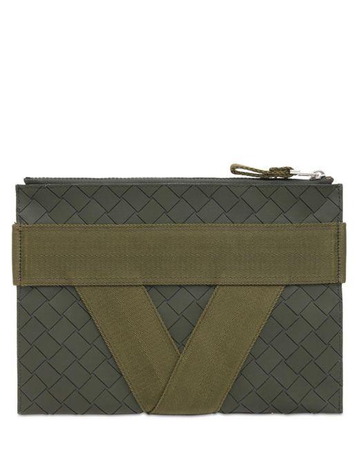 Кожаный Клатч V Logo Medium Bottega Veneta для него, цвет: Green