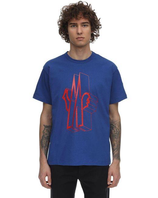 メンズ Moncler コットンtシャツ Blue