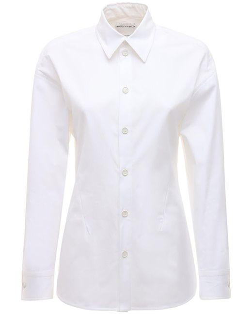 Bottega Veneta ストレッチコットンポプリンシャツ White