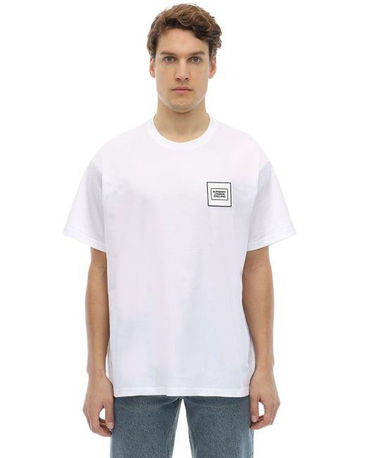 メンズ Burberry オーバーサイズ ジャージーtシャツ White