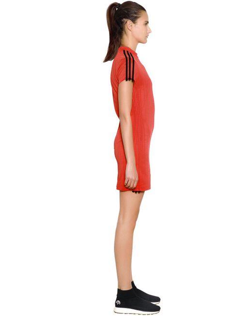 2969762810d ... Alexander Wang - Orange Aw Logo Jacquard Track Mini Dress - Lyst ...