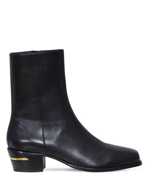Кожаные Ботинки С Квадратным Носком Amiri для него, цвет: Black