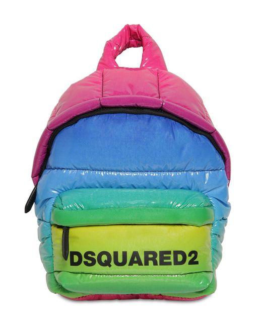 DSquared² Miss レインボービニールバックパック Multicolor