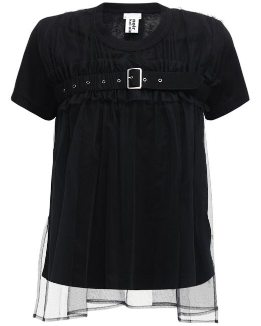 Noir Kei Ninomiya コットンジャージーtシャツ Black