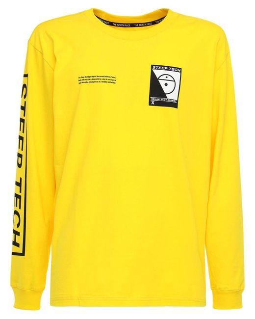 メンズ The North Face Steep コットンtシャツ Yellow