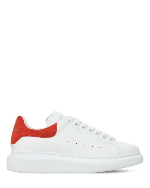 Кроссовки С Крокодиловым Тиснением 45mm Alexander McQueen, цвет: White