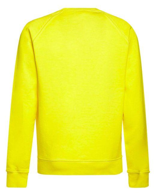 メンズ DSquared² コットンジャージースウェットシャツ Yellow