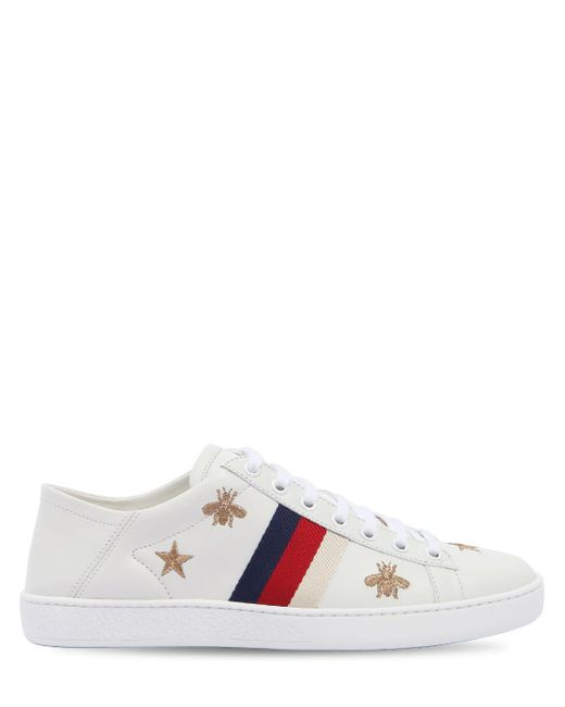 Gucci New Ace レザーミュールスニーカー Multicolor