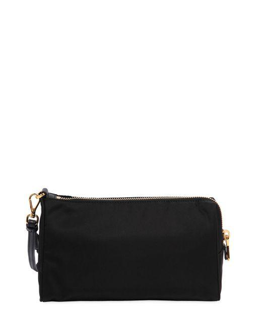... Prada - Black Small Nylon Cosmetic Case W  Wrist Strap - Lyst ... 4110bdde41992
