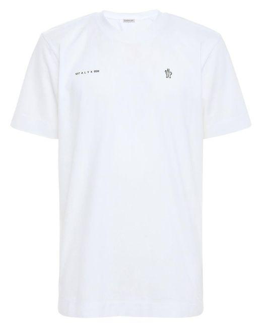 Футболка Из Хлопкового Джерси Moncler Genius для него, цвет: White