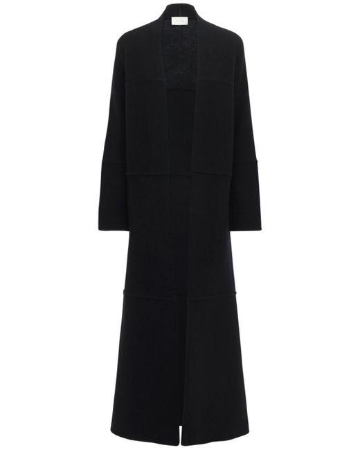 Cappotto In Maglia Di Lana E Cashmere di The Row in Black