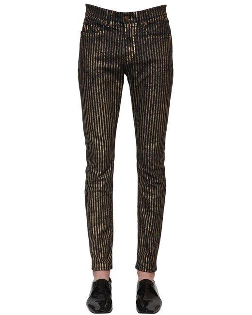 メンズ Saint Laurent スキニーコットンデニムジーンズ 15.5cm Black
