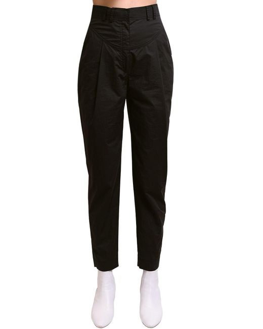 Philosophy Di Lorenzo Serafini Black High Waist Poplin Pants