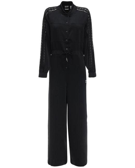 Комбинезон С Кружевными Деталями Adidas Originals, цвет: Black