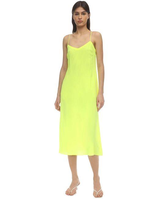 Maryam Nassir Zadeh Dew サテンドレス Yellow