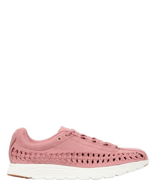 Nike Mayfly ウーヴンスエードスニーカー Pink
