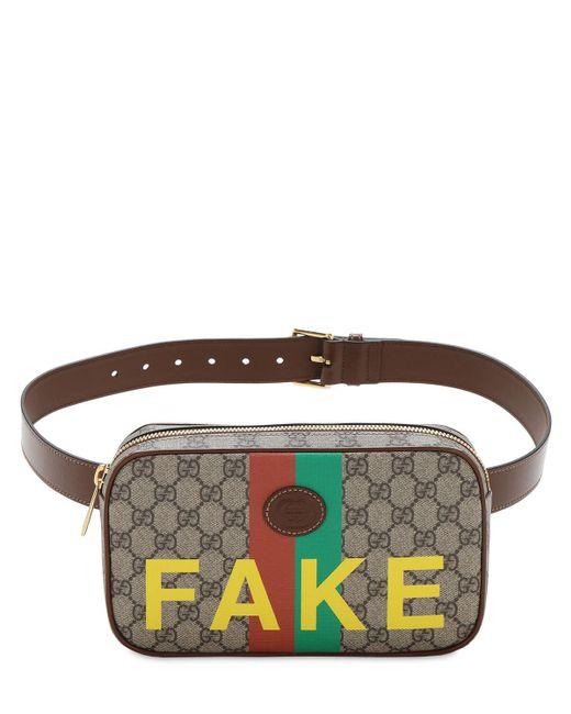 Сумка На Пояс Gg Supreme Fake Not Gucci для него, цвет: Brown