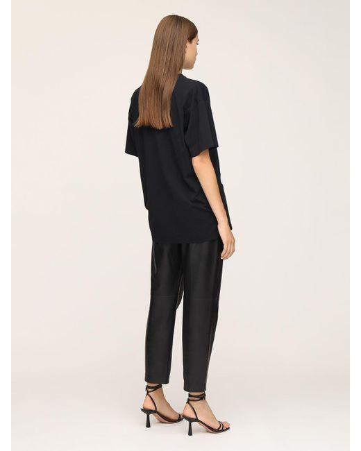 Moschino Bear ジャージーtシャツ Black