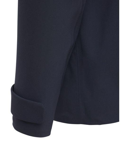 メンズ Loro Piana フーデッドウールブレンドボンバージャケット Blue