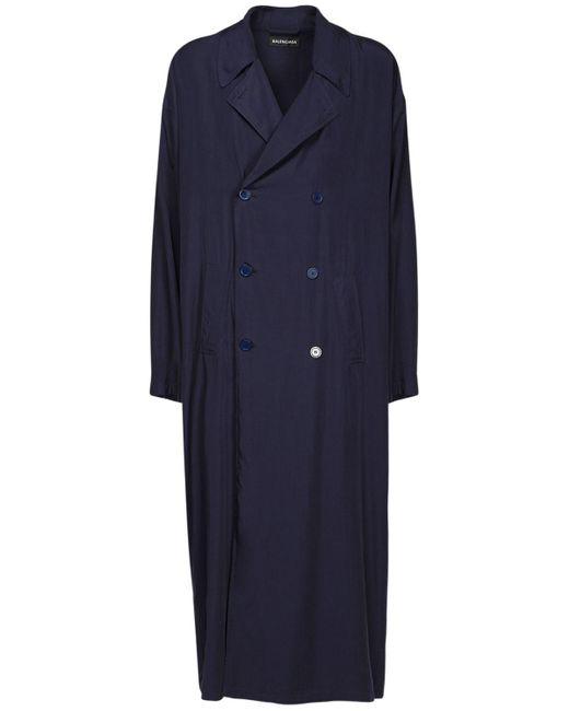 メンズ Balenciaga ポプリントレンチコート Blue