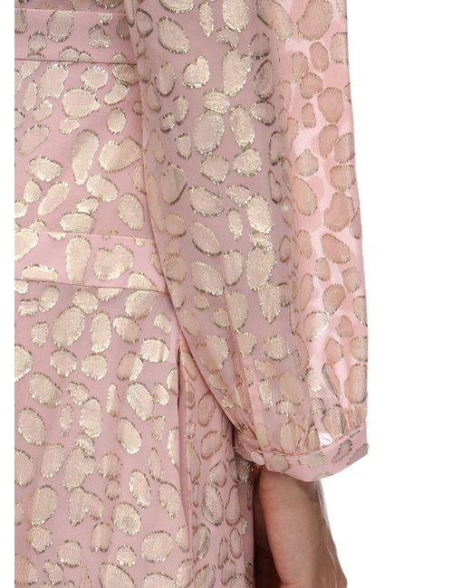 Stella McCartney シルク&ルレックスジャカードドレス Pink