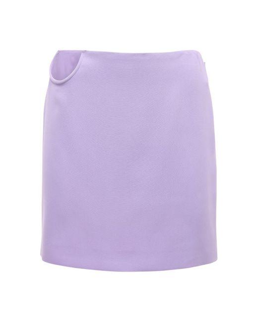 Versace ストレッチテクノカディスカート Purple