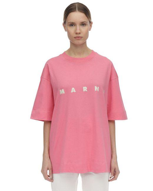 Marni コットンジャージーtシャツ Pink