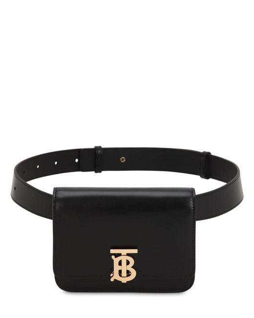 Burberry Tb レザーベルトバッグ Black