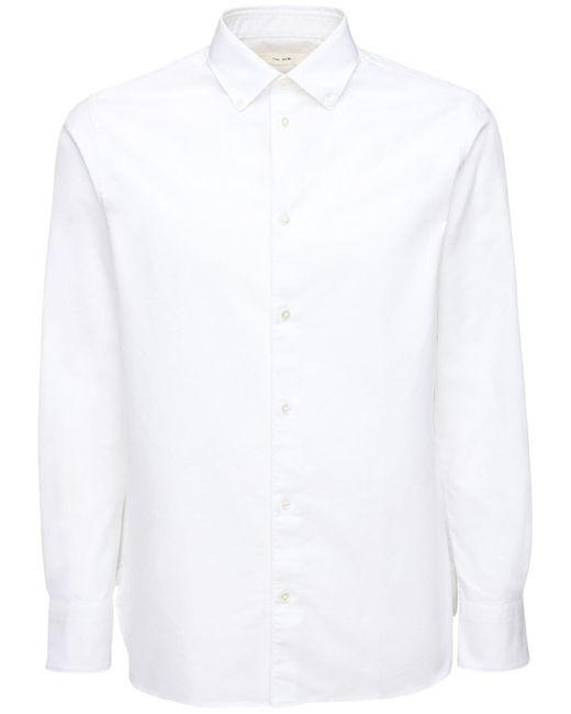 メンズ The Row オックスフォードコットンボタンダウンシャツ White