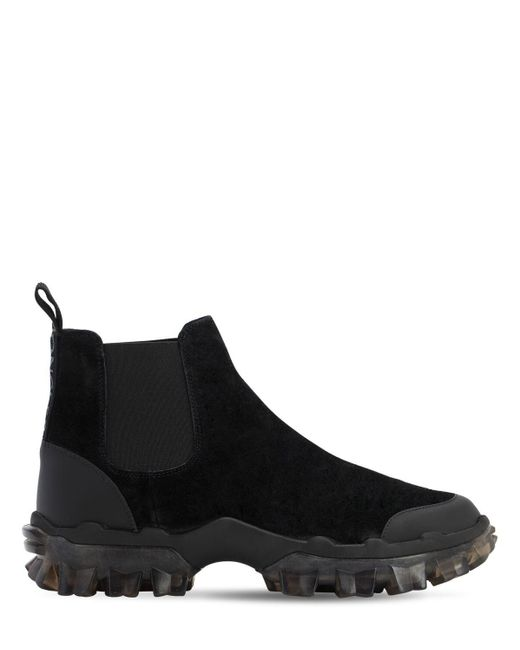 Moncler Black Ayden Chelsea Boots for men