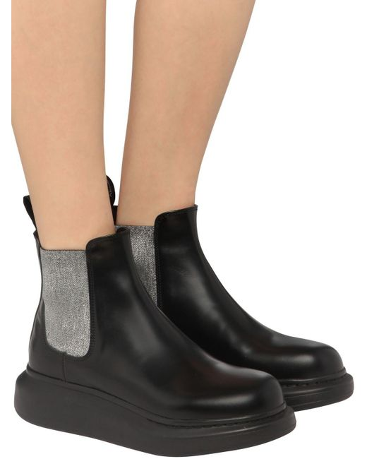 "Кожаные Ботинки ""hybrid"" 45мм Alexander McQueen, цвет: Black"