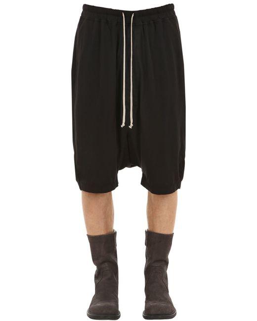 Rick Owens - Black Shorts De Algodón Jersey for Men - Lyst