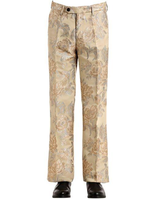 メンズ Christian Pellizzari 27cm 花柄ジャガード ルレックスパンツ Natural