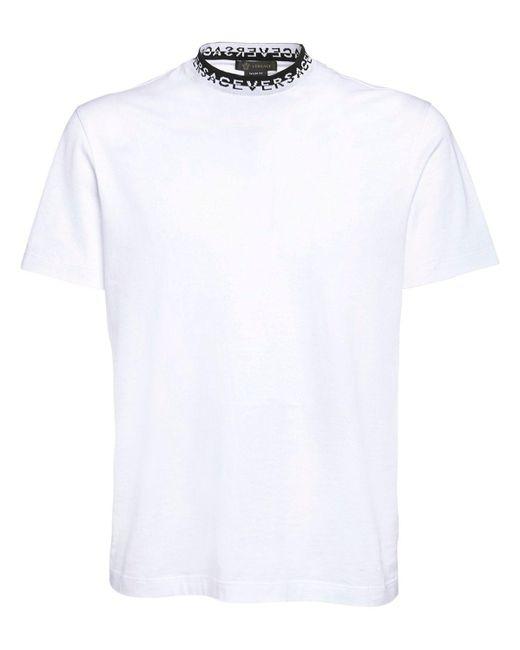 Футболка Из Хлопка Versace для него, цвет: White