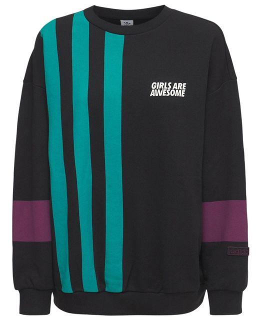 Adidas Originals コットンスウェットシャツ Black