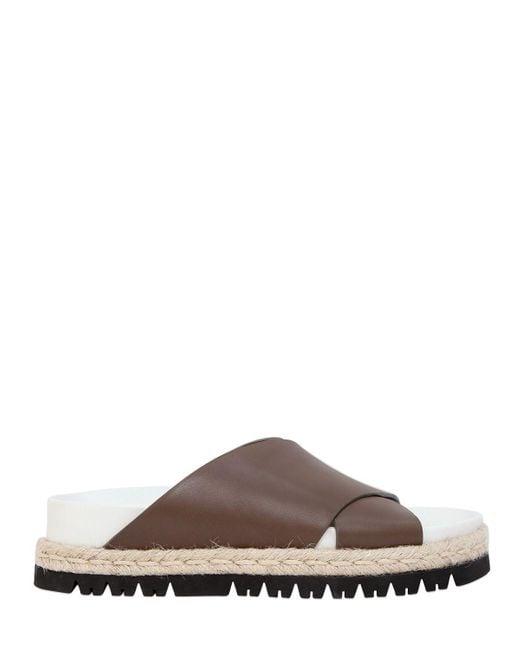 Marni   Green 30mm Crisscross Leather Sandals   Lyst