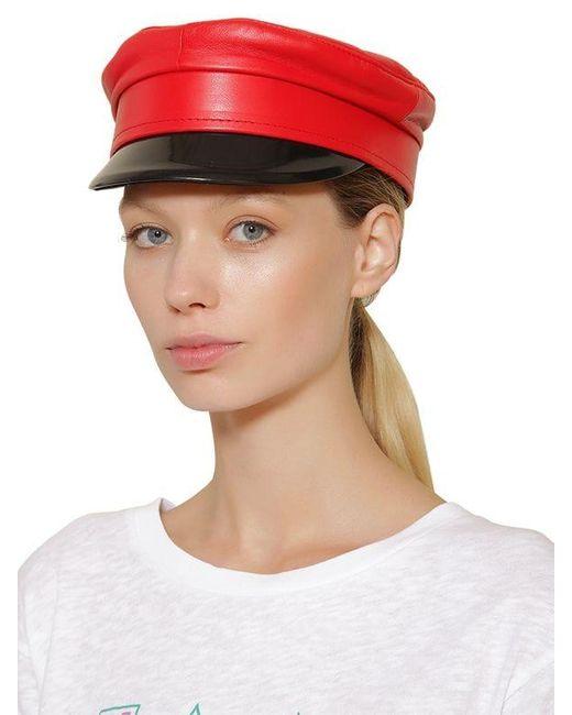 Ruslan Baginskiy Baker Boy レザー帽 Red