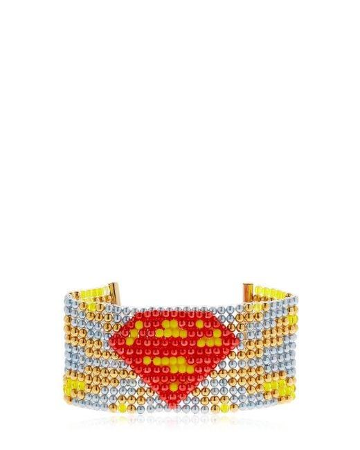 Bijoux De Famille - Multicolor Supergirl Beaded Cuff Bracelet - Lyst