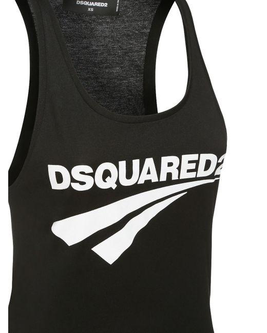 DSquared² コットンジャージータンクトップ Black