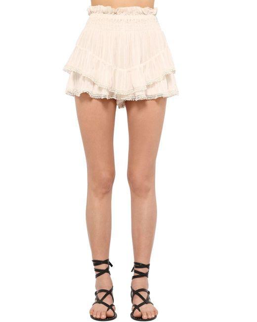 Юбка Из Вискозы Janis Étoile Isabel Marant, цвет: White