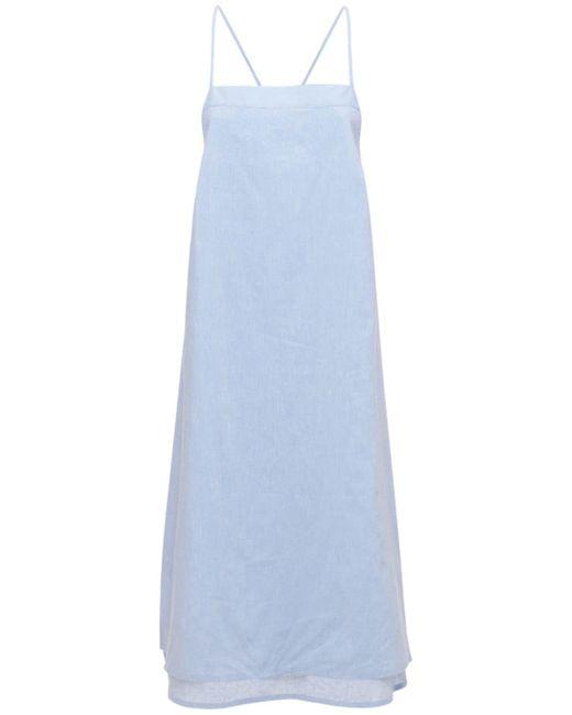 Платье-пижама Из Хлопка И Льна The Sleep Shirt, цвет: Blue