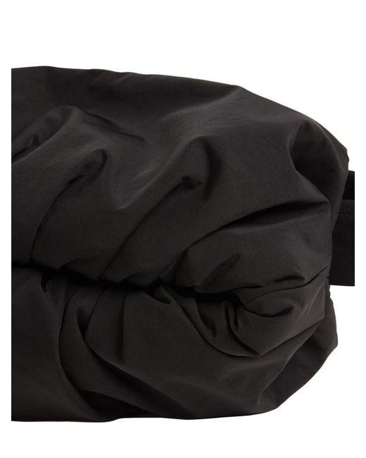 メンズ Bottega Veneta ナイロンクロスボディベルトバッグ Black